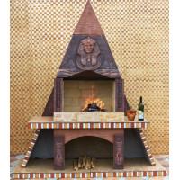 Печь барбекю №8 Египетская пирамида